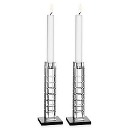 Orrefors Street 7.5-Inch Candlesticks (Set of 2)