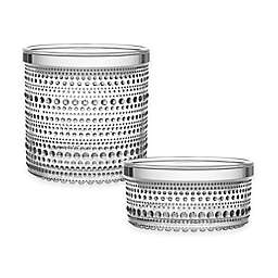Iittala Kastehelmi Jar with Lid in Clear