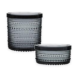 Iittala Kastehelmi Jar With Lid in Grey