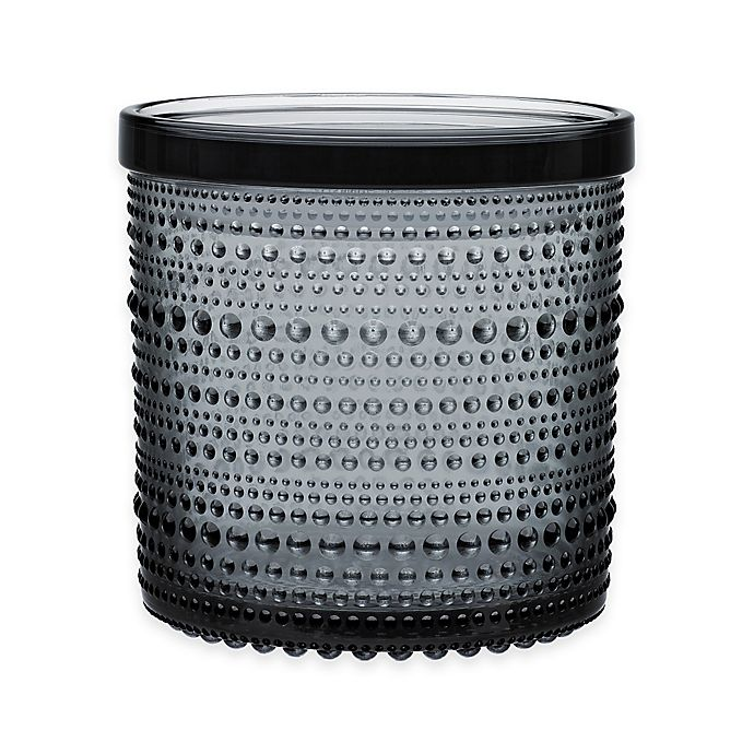 Alternate image 1 for Iittala Kastehelmi Large Jar With Lid in Grey
