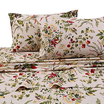 Tribeca Living Maui 300-Thread-Count Deep-Pocket Percale Premium Cotton Sheet Set in Beige