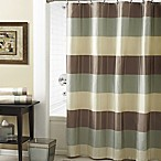 Croscill® Fairfax 54-Inch x 78-Inch Shower Curtain in Taupe