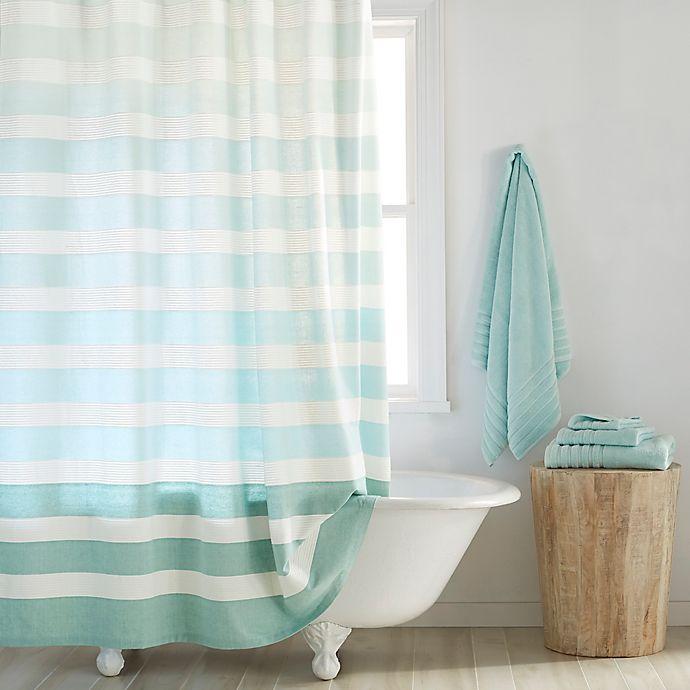 Alternate image 1 for DKNY Highline Stripe Cotton Shower Curtain