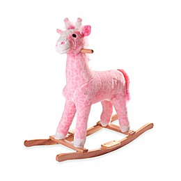 Happy Trails Plush Rocking Penny the Pink Giraffe