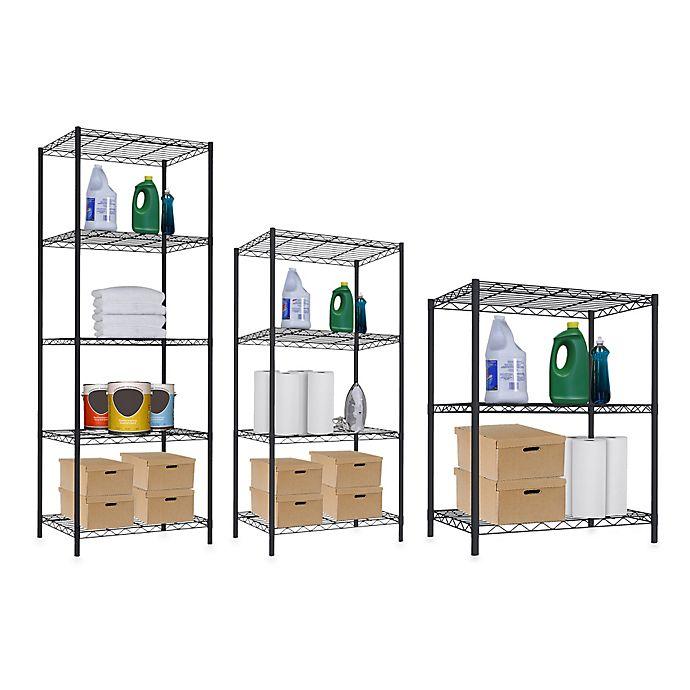 Alternate image 1 for Home Basics®  Wire Shelves in Black