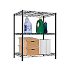 Home Basics® 3-Tier Wire Shelf in Black