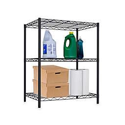 Home Basics® 3-Tier Wire Shelf in Black