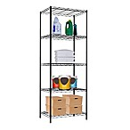 Home Basics® 5-Tier Wire Shelf in Black