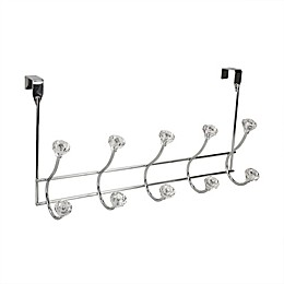Home Basics® Steel Over-the-Door 5-Hook Hanger in Chrome and Crystal