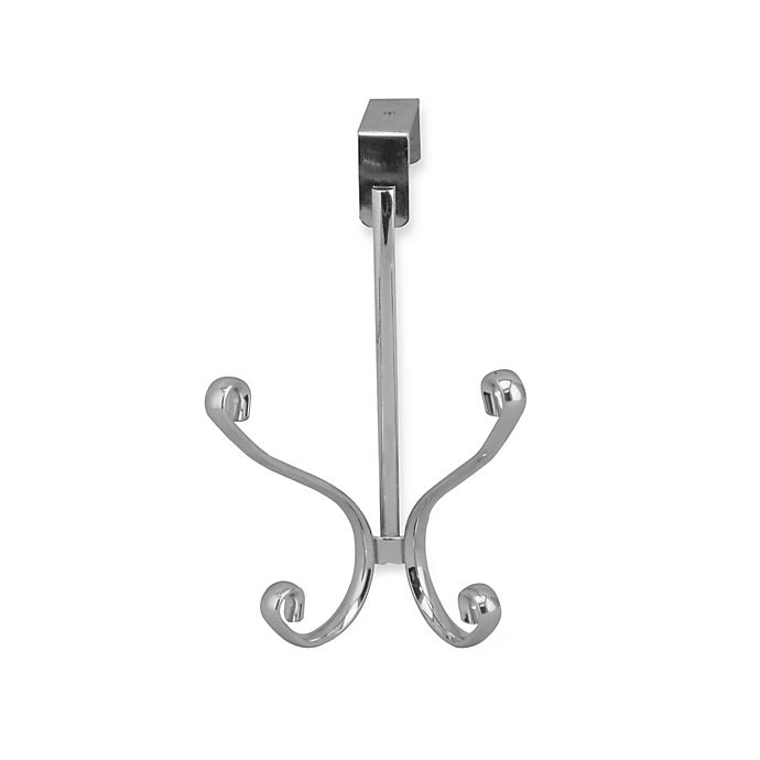 Alternate image 1 for Home Basics® Over-the-Door Quad Hanger in Chrome