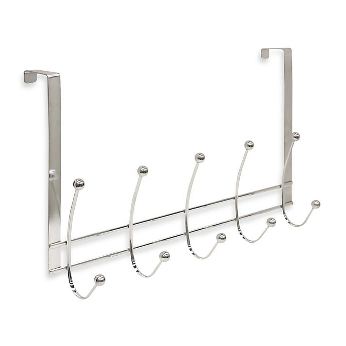 Alternate image 1 for Home Basics® Over-the-Door 5-Hook Flat Wire Hanger in Chrome