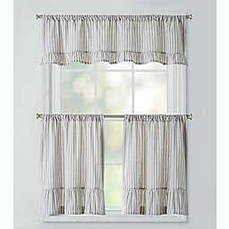 Bee & Willow™ Home Striped Ruffles Window Curtain Tier Pair and Valance Collection