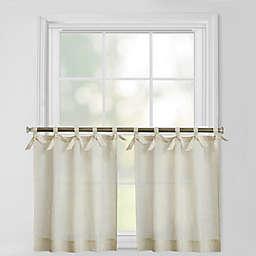 Bee & Willow™ Tie Top Linen 2-Pack Window Curtain Tiers