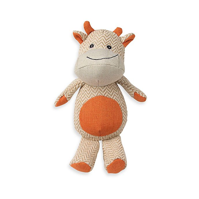 Alternate image 1 for ZooRageous Brady the Bull Pet Toy in Orange
