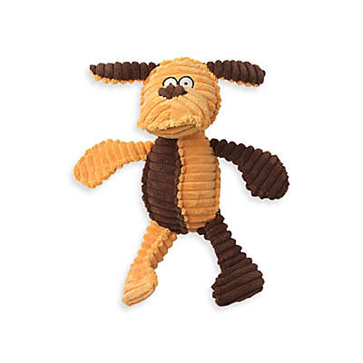 RibRageous Kona the Dog Pet Toy in Gold/Brown