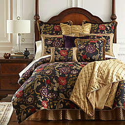 Austin Horn Classics Escapade Reversible King Comforter Set in Black