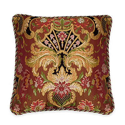Austin Horn Classics Ashley Medallion Square Throw Pillow in Coral