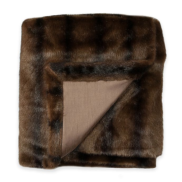 Ashley Fur: Austin Horn Classics Ashley Faux Fur Throw In Brown
