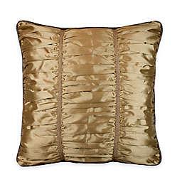 Austin Horn Classics Escapade Shirred European Pillow Sham in Gold