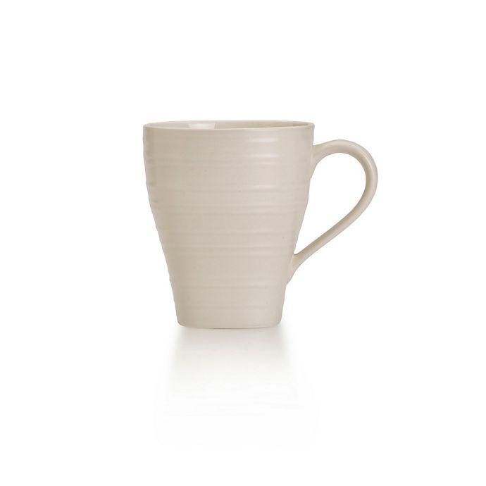 Alternate image 1 for Mikasa® Swirl Square Mug in Cream
