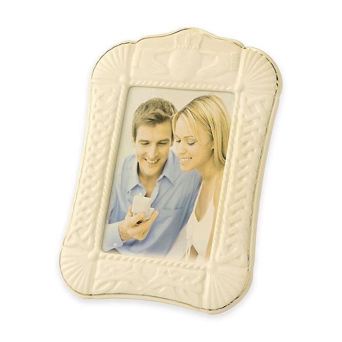 Alternate image 1 for Belleek Claddagh 5-Inch x 7-Inch Picture Frame