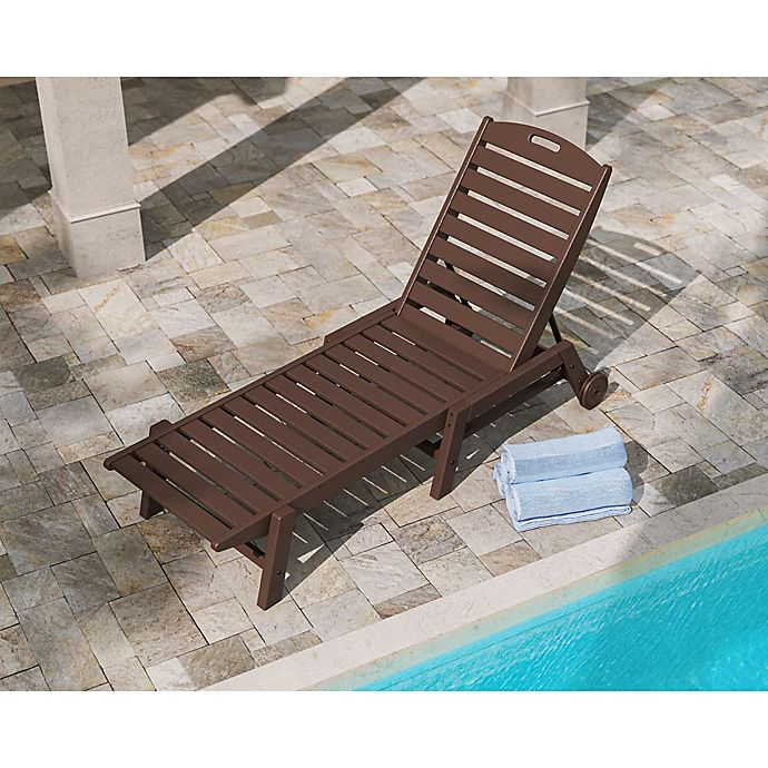 Alternate image 1 for POLYWOOD® Nautical Stackable Wheeled Chaise