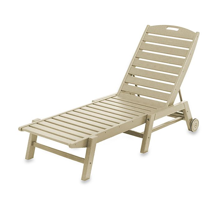 Alternate image 1 for POLYWOOD® Nautical Stackable Wheeled Chaise in Sand
