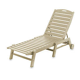 POLYWOOD® Nautical Stackable Wheeled Chaise