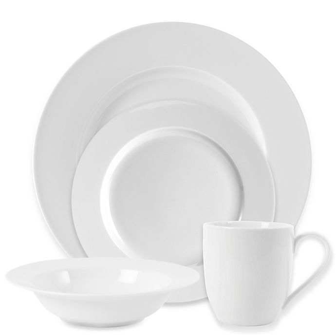 Alternate image 1 for Everyday White® by Fitz and Floyd® Rim Dinnerware Collection