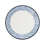 Everyday White® by Fitz and Floyd® Bistro Blue Stripe Dinner Plate