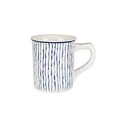 Everyday White® by Fitz and Floyd® Bistro Blue Stripe Mug