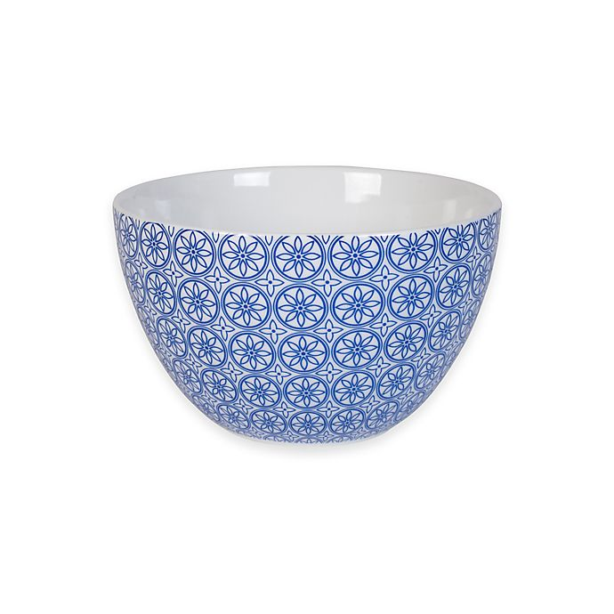 Alternate image 1 for Everyday White® by Fitz and Floyd® Bistro Blue Mosaic Bowl
