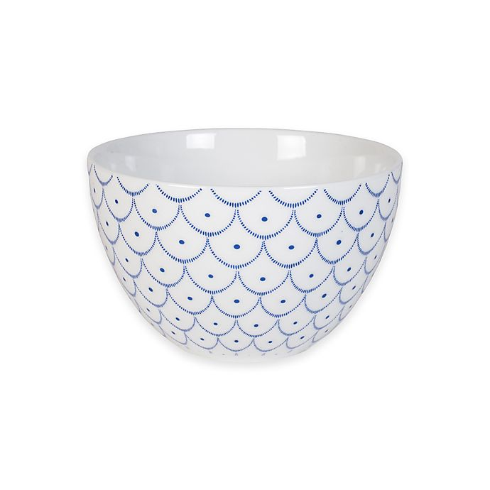 Alternate image 1 for Everyday White® by Fitz and Floyd® Bistro Blue Scallop Bowl