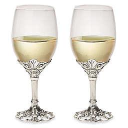 Arthur Court Designs Fleur-de-Lis Wine Glasses (Set of 2)