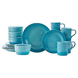 Baum Sloan 16-Piece Dinnerware Set in Gradient Aqua