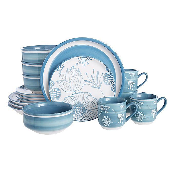 Alternate image 1 for Baum Couleur 16-Piece Dinnerware Set in Blue