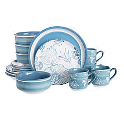 Baum Couleur 16-Piece Dinnerware Set in Blue