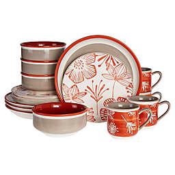 Baum Couleur 16-Piece Dinnerware Set in Red