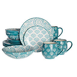 Baum Oceana 16-Piece Dinnerware Set in Turquoise