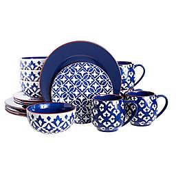 Baum Amari 16-Piece Dinnerware Set in Blue