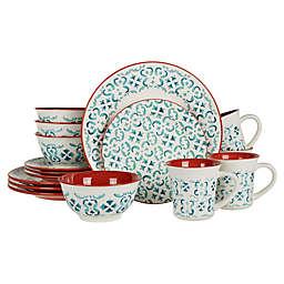 Baum Evora 16-Piece Dinnerware Set in Blue