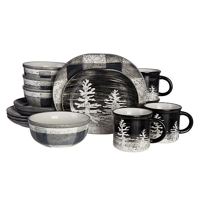 Alternate image 1 for Baum Northfield 16-Piece Dinnerware Set in Black