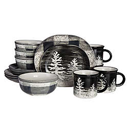Baum Northfield 16-Piece Dinnerware Set in Black