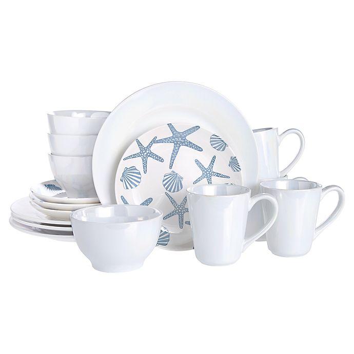 Alternate image 1 for Baum Coastal 16-Piece Dinnerware Set in Blue