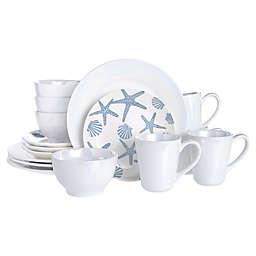 Baum Coastal 16-Piece Dinnerware Set in Blue