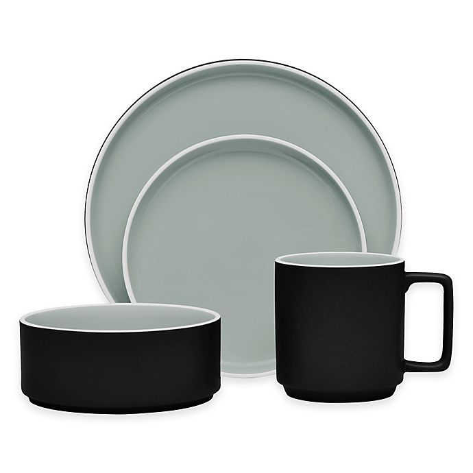 Alternate image 1 for Noritake® ColorTrio Stax 4-Piece Place Setting in Graphite