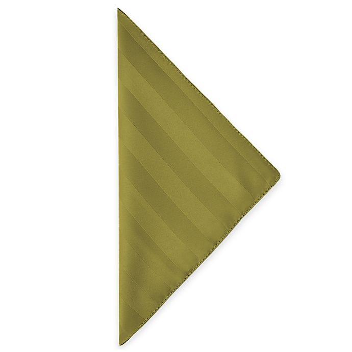 Alternate image 1 for Poly Stripe Napkins in Acid Green (Set of 4)