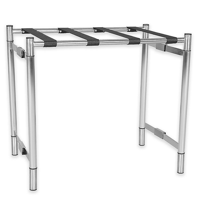 Alternate image 1 for Metal Luggage Rack in Silver