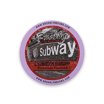 Brooklyn Bean Roastery Coffee Co. 16-Count Cinnamon Subway Coffee for Single Serve Coffee Makers