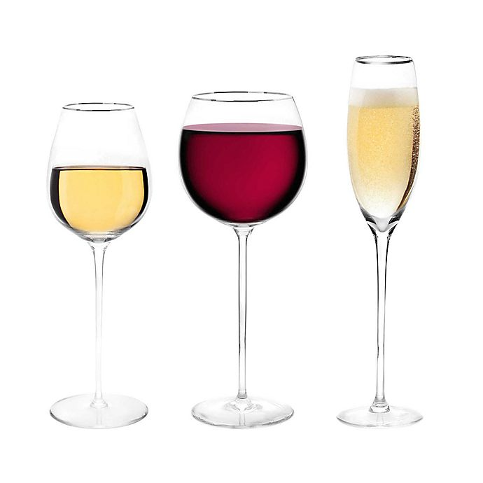 Alternate image 1 for Olivia & Oliver® Madison Platinum Wine Glass Collection